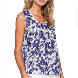 Rebecca Minkoff-Lily Lace Edging Abstract Blouse